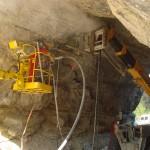 Confortement rocheux de tunnel à Miscon