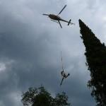 Confortement de parois rocheuses, transport hélicoptère