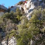 Purge et mise en sécurité de falaises dans le Verdon