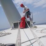 Travaux sur cordes sur des éoliennes