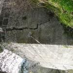 Confortement de mur de soutènement sur route ouverte